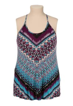 Printed Swing plus size tank - maurices.com