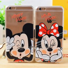 Cell Phone Cases - New Ultra Thin Cute Couple TPU Crystal Clear Case Cover for iPhone in Cell Phones Accessories, Cell Phone Accessories, Cases, Covers Skins Couples Phone Cases, Couple Cases, Disney Phone Cases, Cute Phone Cases, Coque Smartphone, Coque Iphone, Iphone 5s Covers, Iphone Phone Cases, Coque Couple