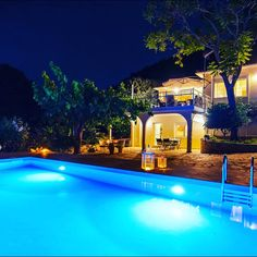 Two Storey House, Square Meter, Private Pool, Greek Islands, Coastal, Villa, Mansions, House Styles, Outdoor Decor