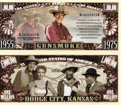 Gunsmoke- TV Show Million Dollar Novelty Money