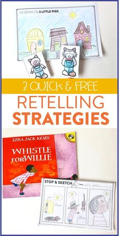 Looking for new retelling strategies?! See how this first grade teacher uses these activities to have her students practice retelling their stories. Grab them for FREE over on the blog!