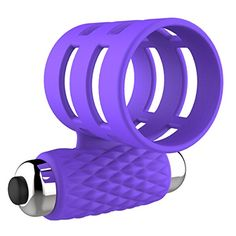 Mini Bullet Vibrating Penis Cock Ring Vibrator for Men  AKStore  100 Pure Medical Grade Silicone and Waterproof SilentPurple ** Find out more about the great product at the image link.