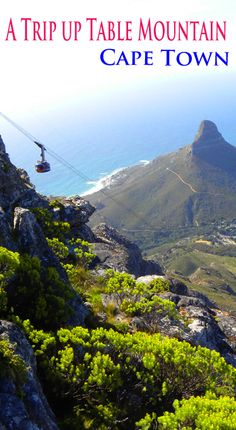 Cable car with Lion's head in the background, Cape Town. http://bbqboy.net/trip-table-mountain-cape-town/ #capetown #southafrica