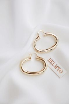 Sterling Silver Gold Chic Medium Multicolor Green Red Orange C-Shape Stud Hoop 28mm Simple Geometric Titanium Earrings Pendants
