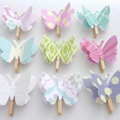 Butterflies paper clips