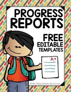 Do you have progress reports looming? How about a handy dandy template to help save you some valuable time and keep you on track? This quick and easy progress report template has you covered. I drafted this clean and simple little ditty a few weeks ago to help me get through the progress report process.