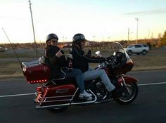 Jeff and Sarah standing in front of their Harley-Davidson Limited riding back to Lebanon! Biker Dating Sites, Single Dating, Lady Biker, Lebanon, Harley Davidson