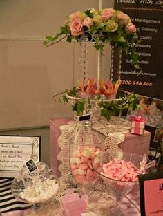 Vintage Pink Candy Buffet