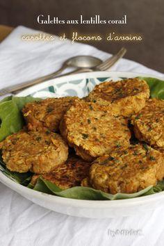 Galettes aux lentilles corail, carottes et flocons d'avoine – Mes brouillons de cuisine