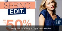 Sale Ends Tonight: Up To 50% Off In Gap Covent Garden!