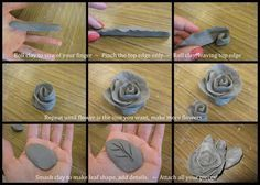 Capodimonte Inspired Clay Roses: Free Lesson Plan Download - rose steps