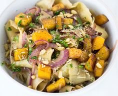 Looking for something beyond your typical tomato marinara? Try this Roasted Butternut Squash Pappardelle byCook Smarts. Bonus: This pasta dish comes together in just 35 minutes--perfect for a quic...