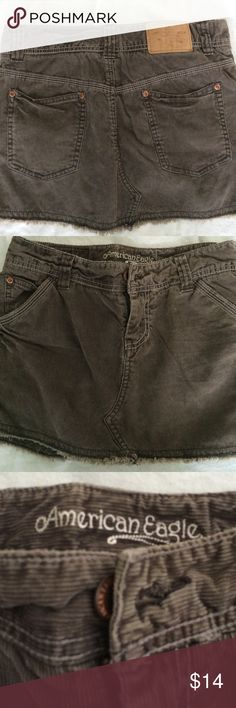 AE brown corduroy mini skirt size 0 Great shape rustic looking Skirts Mini