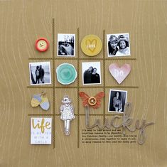 Lucky #layout by Lisa Dickinson #scrapbook