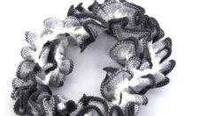Black and White Scarf Lace Scarf Winter by BestOffersBoutique