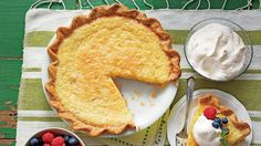 Classic Southern Buttermilk Pie - Old-Fashioned Pies & Cobblers - Southern Living - Silky, sweet and perfectly decadent—this classic Southern pie is going to have you going in for seconds.      Recipe: Classic Southern Buttermilk Pie