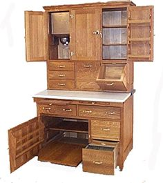 Hoosier Cabinet. So much useful storage here! I love pieces like this that are charming and SO functional.
