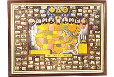 Vintage Phi Delta Theta Map