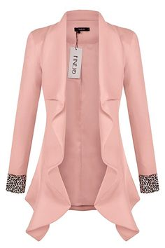 2016 White Pink Blazer Women Ruffles Plus Size Blazer Feminino Female Suit Jacket Slim Blaser OL Office Work Wear Blazers For Women, Suits For Women, Jackets For Women, Jordan Dress, Chic Outfits, Fashion Outfits, Plus Size Blazer, Corporate Wear, Blazer Pattern
