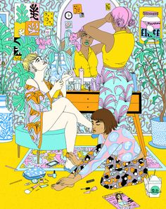 An illustration for the March issue of NYLON to accompany their Spring beauty feature :))