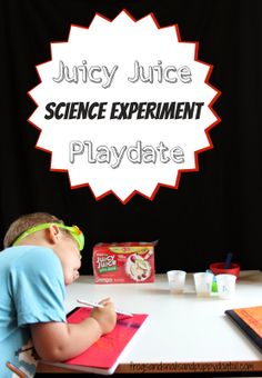 Juicy Juice Science Experiment Playdate by FSPDT  *lots of fun for the kids!  * great way to add a little science to playtime. *creative playdate idea #UltimatePlaydate  #shop  #cbias