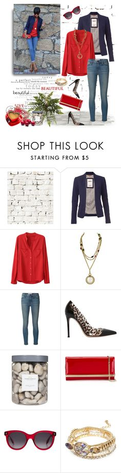 """""""Red Blouse"""" by murenochek ❤ liked on Polyvore featuring Milton & King, Tommy Hilfiger, Chanel, Frame Denim, Gianvito Rossi, Threshold, Jimmy Choo, Alexander McQueen, River Island and StreetStyle"""