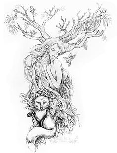 Tattoo Nature Earthy Ideas - You are in the right place about Tattoo Nature Earthy Ideas Tattoo Design And Style Galleries O - Fairy Sleeve Tattoo, Forest Tattoo Sleeve, Nature Tattoo Sleeve, Forest Tattoos, Full Sleeve Tattoos, Nature Tattoos, Body Art Tattoos, Earthy Tattoos, Key Tattoos
