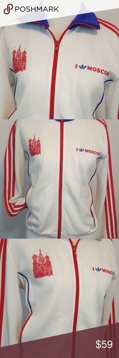 Adidas Originals Women Moscow Russia Track Jacket Excellent. adidas Tops Sweatshirts & Hoodies