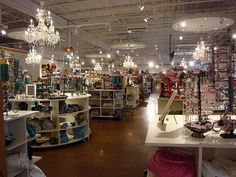 Charming Charlie's!!! The best jewelry and accessory store ever. Arranged by color, it is so fun to shop there.