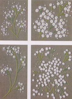No.21 PDF Pattern of How to do  Flower Hand Embroidery Vintage. These Are So Delicate Looking!