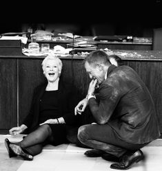 Dame Judi Dench & Daniel Craig on the set of Skyfall.  Love this pic.