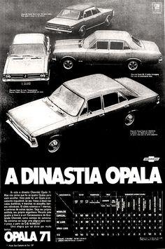 Anúncio Chevrolet Opala - 1970