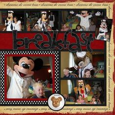 #disney #scrapbook #layout by lucia