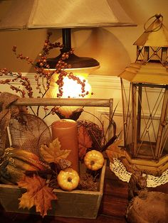 Fall decorating ideas..I love this lady's whole home and blog