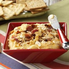 Hot Bacon Cheddar Spread Recipe from Taste of Home -- shared by Cara Langer of Overland Park, Kansas