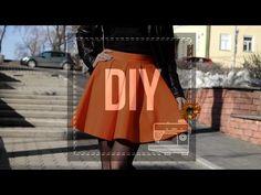 DIY Юбка со складками   Сшить быстро и просто - YouTube