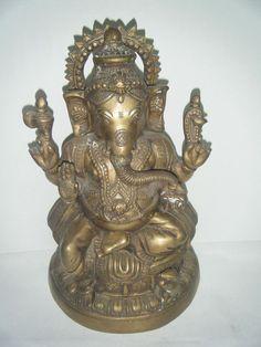 Vintage Old Ganesha, Rare Collectible Hindu God Ganesha Antique Figure #032
