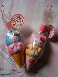 Hello Kitty Ice Cream Squishies.