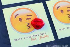 Emoji Valentines - A girl and a glue gun Valentine Box, Valentines For Kids, Happy Valentines Day, School Treats, School Snacks, Holiday Crafts, Holiday Ideas, Holiday Decor, School Fun