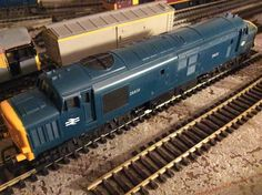 class 37 D6830 in early BR blue, Vintage model by Triang in pristine condition  acquired 29/06/15 at High Road Auctions