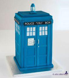 TARDIS cake The Tardis, Tardis Cake, Doctor Who Cakes, 3d Cakes, Occasion Cakes, Themed Cakes, Cake Art, Cake Cookies, Cake Designs