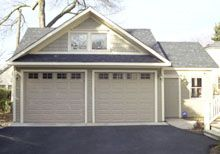Custom Offset Reverse Gable Garage with Third Gable Custom Garages, Dream Garage, Third, Exterior, Outdoor Structures, Sky, Building, Outdoor Decor, Blue