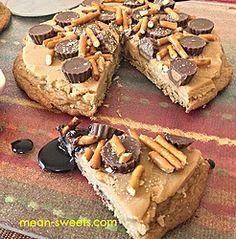 Peanut Butter Fudge Cookie Pizza