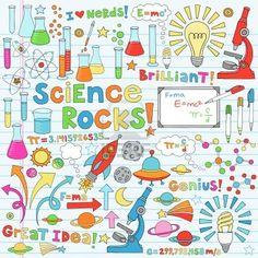 Science Back to School Notebook Doodles Vector Illustration