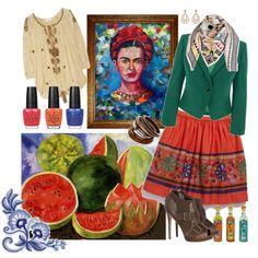 Get the look - Frida kahlo  #fashion