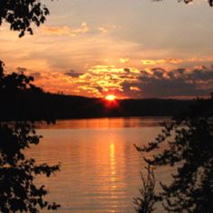 Beautiful sunset at camp. Temiscaming Quebec