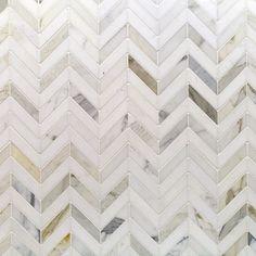 Talon Calacatta & Thassos Marble Tile | TileBar.com