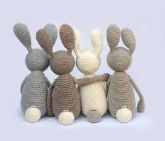 "For Babies - ""Stupshase"" - Cuddly, hare - a designer piece of an idea on DaWanda"