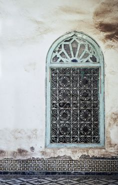 Moroccan metal window