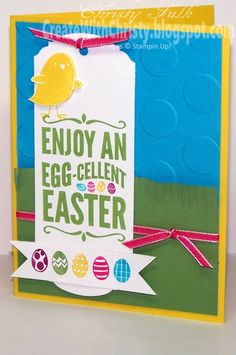 Stampin' Up! For Peeps' Sake Easter Card - Create With Christy - Christy Fulk, Stampin' Up! Demo
